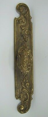 Old Brass Decorative Art Door Pull Ornate Architectural Hardware Element