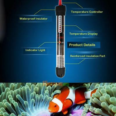Automatic Adjustable Temperature Aquarium Submersible Fish Tank Water Heater EU