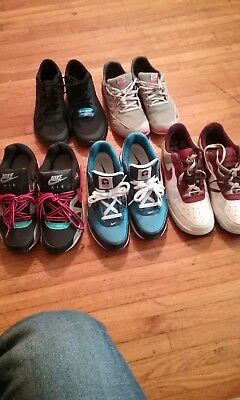 lot of womens nike shoe 3 pair, 2pair other. Size 10W blue Nike are 8.5M