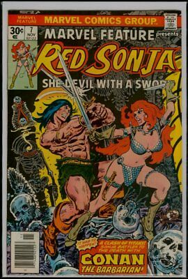 Marvel Comics MARVEL FEATURE #7 RED SONJA vs CONAN The Barbarian VFN/NM 9.0