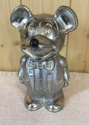 Delightful Vintage Silver Plated 'Cavalier' Mickey Mouse Money Box