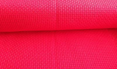 "Red 14 Point Cross Stitch Fabric - 2 -  Long Unused Pieces -  46"" Long"