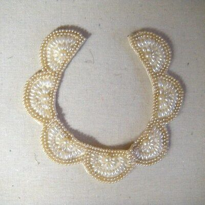 vintage Glentex Made in Japan  scalloped collar necklace w/faux pearls