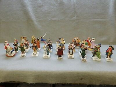 "Group Lot Of 26 ""norman Rockwell"" Dated Christmas Ornaments"