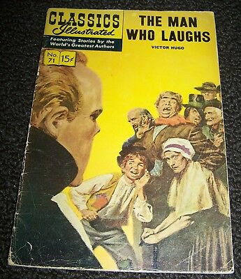 Classics Illustrated #71 (HRN-165, Gilberton) The Man Who Laughs.