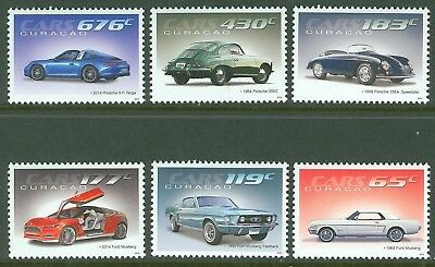 Curacao 2014 Porsche   Set Of Six  Mint Nh