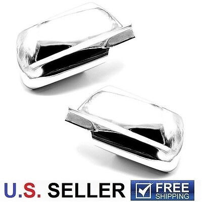 Pair of Triple Chrome Plated Mirror Cover For 2008-2012 Chevy Malibu