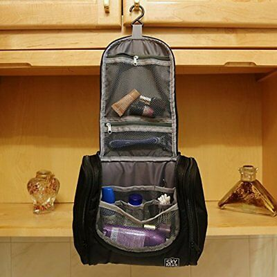 Toiletry Bag For Men & Women - Hanging Toiletries Kit For Makeup, Cosmetics
