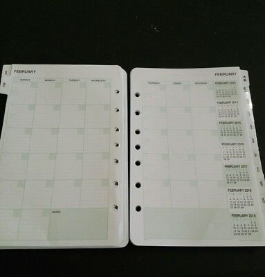 Day Timer Classic Refills - 12 Month Undated Calendar, Appointment, Expenses +
