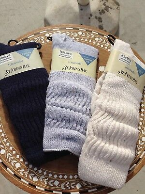NEW Vintage Inspired Socks St Johns Bay LOT of 3 Pairs, Super Cute for Layering!