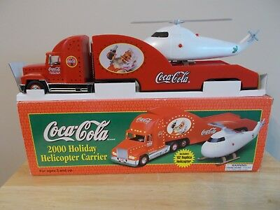 2000 Coca Cola Holiday Helicopter Carrier 62 Replica Helicopter New In Box