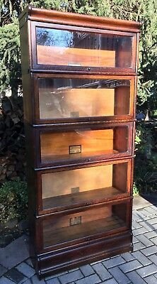 Antique Globe Wernicke Barrister Bookcase 5 stack