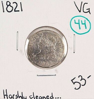 1821 Capped Bust Dime VG #49262