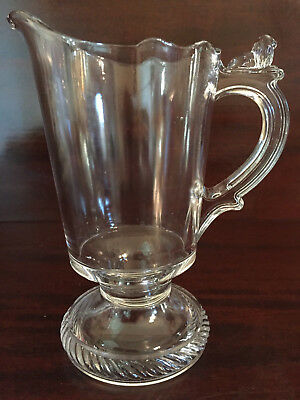 1880 Richards & Hartley EAPG Glass Lion & Cable Tiny Lion Table Creamer Pitcher