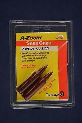 A-Zoom Snap Caps for 7mm Winchester Short Magnun 7mm WMS azoom #12205 2-pack NEW