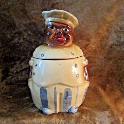 1940's National Silver Co., Black Americana Chef Cookie Jar/Good Condition!