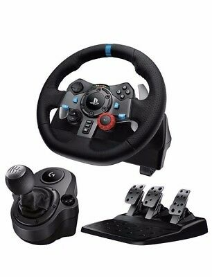 Logitech Driving Force G29 Wheel And Pedals + G Driving Force Shifter Bundle