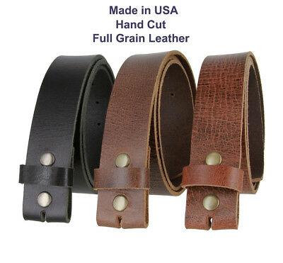 "Hand Cut Hc005 Made In Usa Genuine Full Grain Leather Belt Straps 1-1/2 "" Wide"