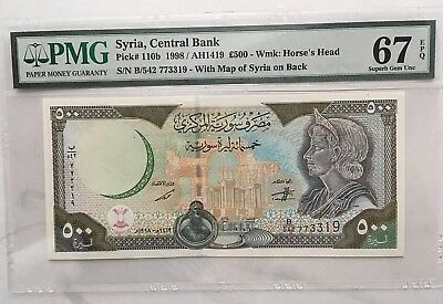 I'm dealing, Make Offers Syria 1998 500 P.110b PMG67 (yes 67) Combo S/H