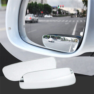 2Pcs Universal Auto 360 Wide Angle Convex Rear Side View Blind Spot Mirror