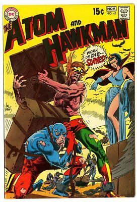 Atom & Hawkman #45 NM- 9.2 off-white pages  DC  1969  No Reserve