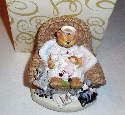 Music Box CAT Nurse Figure Spoonful of Sugar Mice Ruth Ninneman with BOX #39