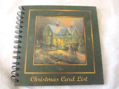 "Thomas Kinkade Christmas Card List Address Book Spiral  Hardcover 8""x8"""