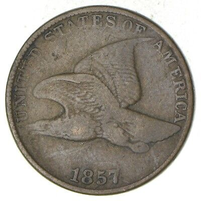 1857 Flying Eagle Cent - Very Tough - Issued for only 3 Years *450