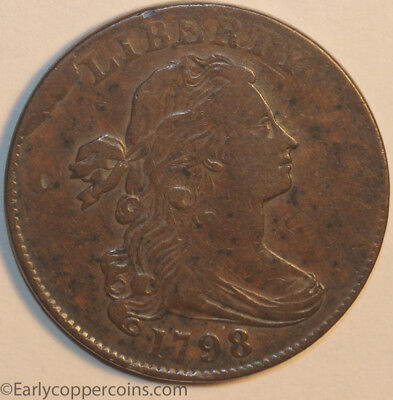 1798 S171 R4 Draped Bust Large Cent Raw VERY FINE PLUS Starts 1-cent NO-RESERVE!