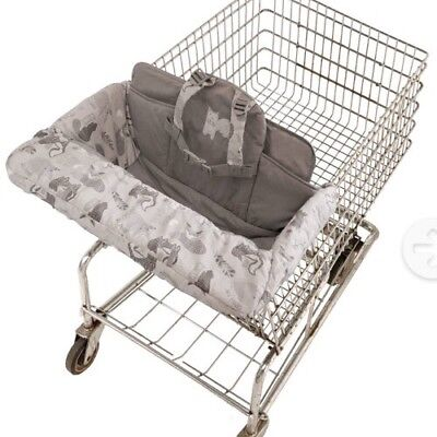 Eddie Bauer Boy Girl Baby Toddler Child Shopping Cart & High Chair Cover-Grey
