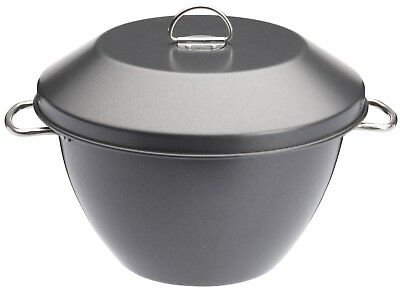 KitchenCraft MasterClass Non-Stick Pudding Basin/Steamer Bowl with Lid - 2 L