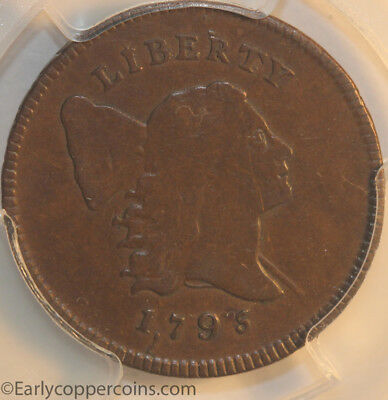 1795 C2a R3 Liberty Cap Half Cent Lettered Edge Punctuated Date PCGS EF40