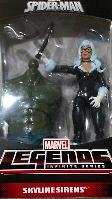 """ Black Cat"" Marvel Legends Skyline Sirens Series Mint in Box Unopened"