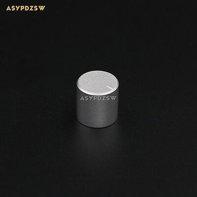 1 PCS 15*15 Matte silver aluminum amplifier solid knob Volume potentiometer knob
