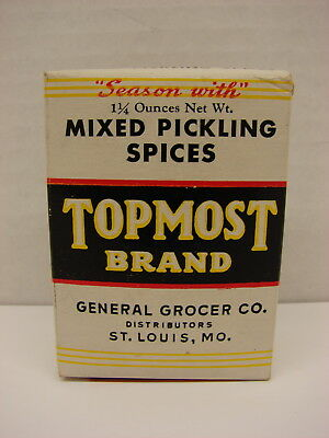 Unopened Topmost Brand Pickling Spices St. Louis, MO
