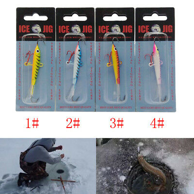 18g 83mm Fishing lures Ice Jig Metal Artficial Bait Lead Fishing Tackle Hook^v^
