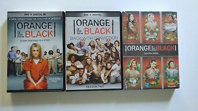 ORANGE IS THE NEW BLACK DVDs-SEASON 1, 2 and 3.