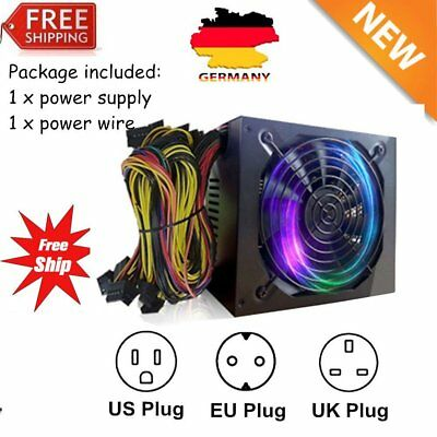 1300W Power Supply For 6GPU Eth Rig Ethereum Coin Mining Miner Dedicated DW