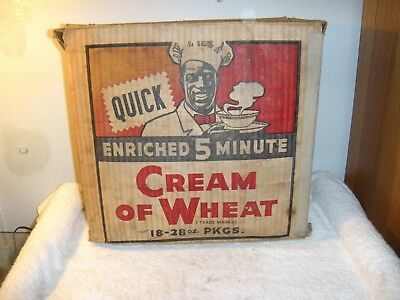 Old CREAM OF WHEAT Institutional Cereal BOX   ONLY