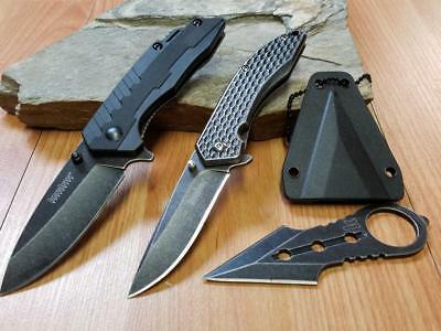 Kershaw LOT OF 3 Neck Knife & 2 Assisted Open Pocket Knives 3PC Speedsafe