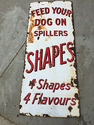 Vintage 1940's Dog Feed Original Porcelain Sign
