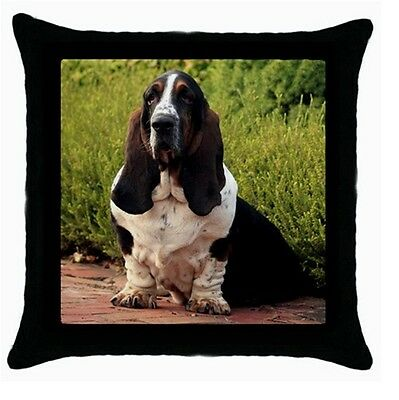 BASSET HOUND DOG PUP Puppy cushion cover Throw pillow 118775450
