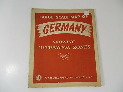 Large Scale Map of Germany Showing Occupation Zones Geographia Map Co.