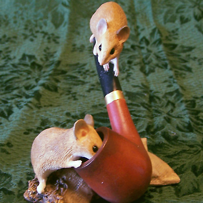 Country Artists Mice on Pipe New Figurine MIB NOS The Natural World Mouse