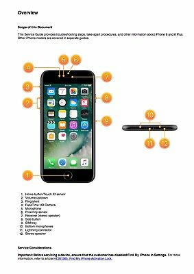 iPhone 8 and iPhone 8 Plus  Service Manual Guide to Repairing/Reassembling