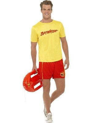 SALE Adult Sexy 80s Baywatch Beach Lifeguard Mens Fancy Dress Stag Party Costume  sc 1 st  PicClick & MENS BAYWATCH Beach Costume Lifeguard Official Fancy Dress 90s 80s ...