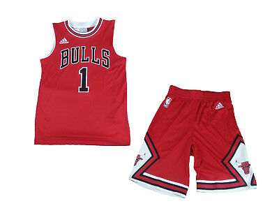 Chicago Bulls NBA Trikot Set Adidas Derrick Rose Jersey Shirt
