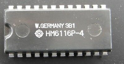 HM6116P-4,& LP-3, HM3-6116L-5 2048 X 8bit High Speed CMOS Static RAM 24 pin DIP