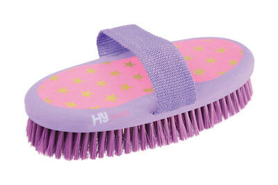 HySHINE Star Easy Grip Body Brush 20 x 9.5cm Pink/Lilac 4586