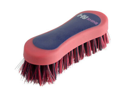 HySHINE Pro Groom Face Brush 12.3 x 4cm Navy/Red 8318